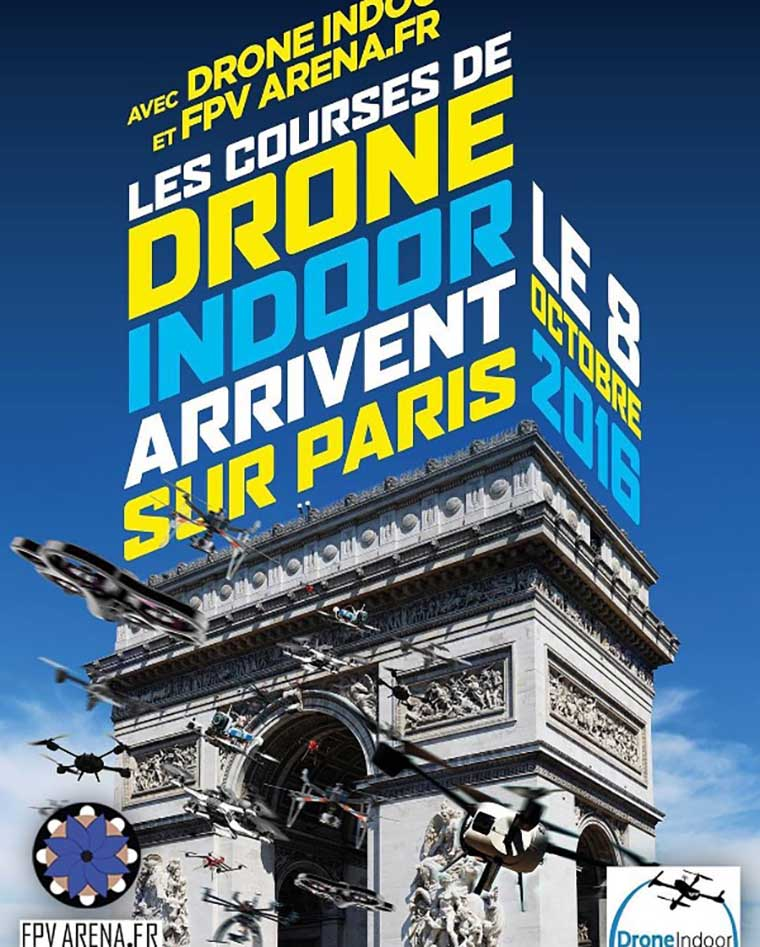 drone indoor Paris, France