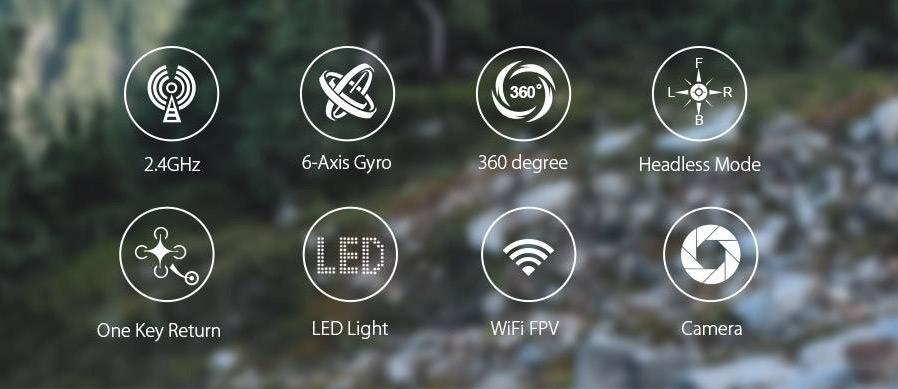 Eachine E33W Drone FPV caractéristique