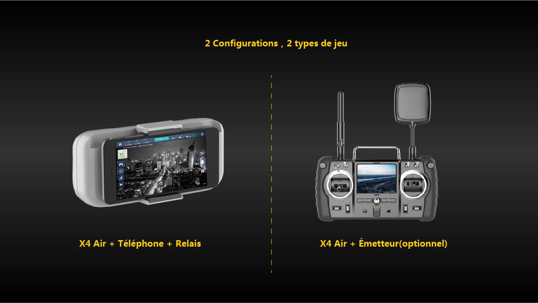 Radio commande Hubsan H501A X4 Air Pro
