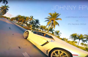 Lamborghini Aventador vs FPV racing drone