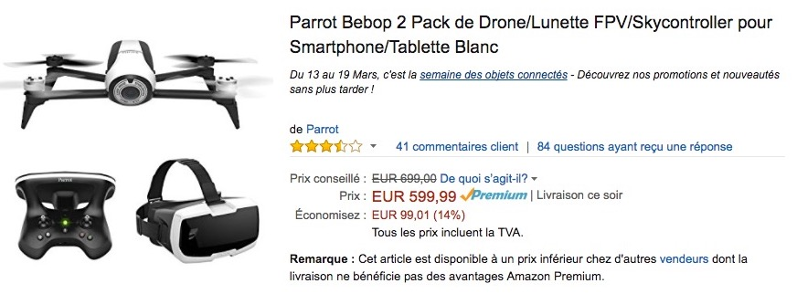 promotion Parrot Bebop 2 Pack