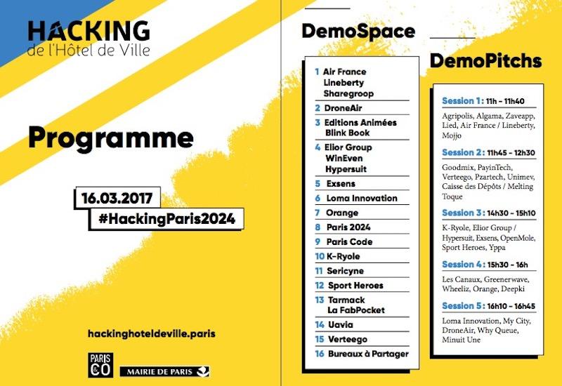 Programme Hacking 2017