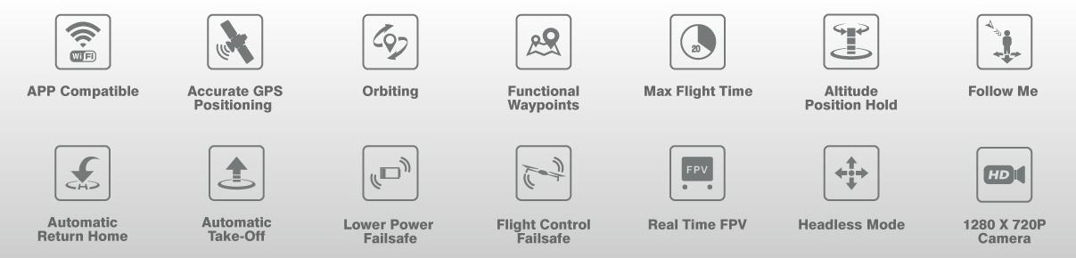 Hubsan H501M X4 caractéristiques
