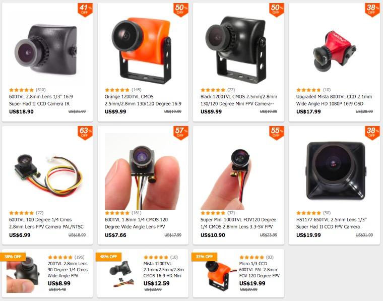 Collection Brand Cam en promotion foxeer Eachine Runcam cheap