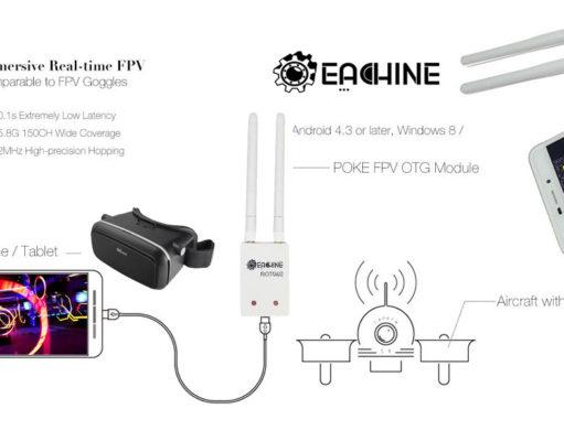 FPV OTG Rx Vidéo USB Android Drone Racing