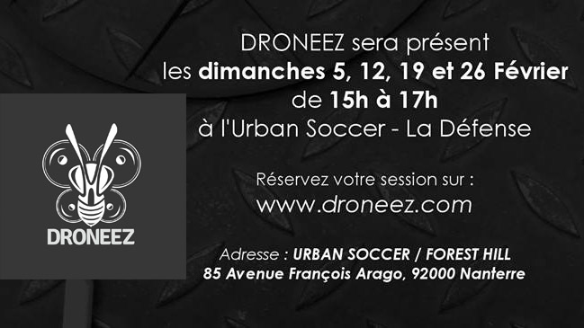 apprendre piloter un drone gr ce droneez la d fense paris drone fpv news. Black Bedroom Furniture Sets. Home Design Ideas