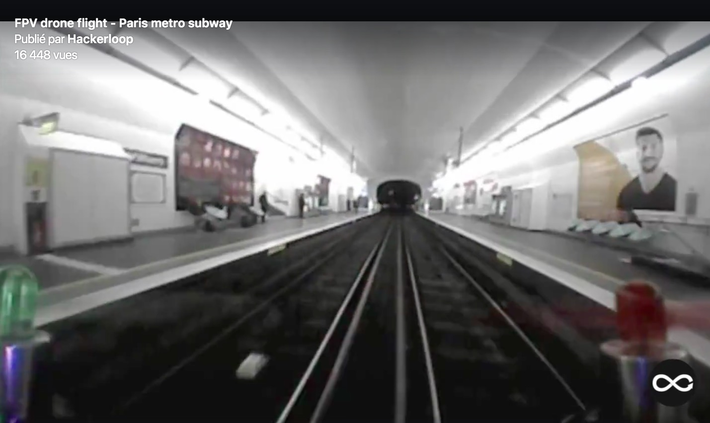 drone paris metro subway - Hackerloop 2017