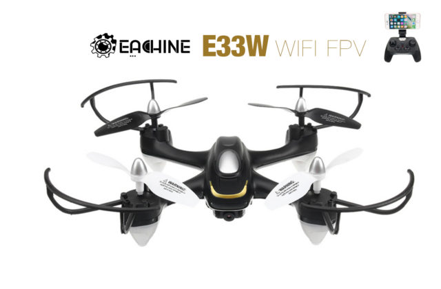 Eachine E33W WiFi Drone FPV avec Camera