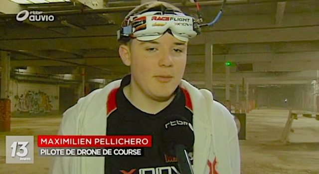 Reportage Drone sur rtbf Nivelles drones de vitesse