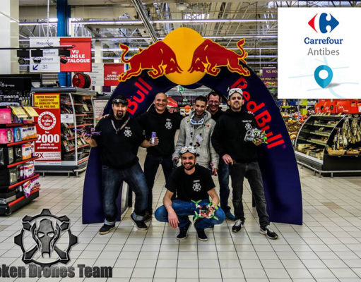 course fpv racing hypermarche carrefour a antibes broken drones team