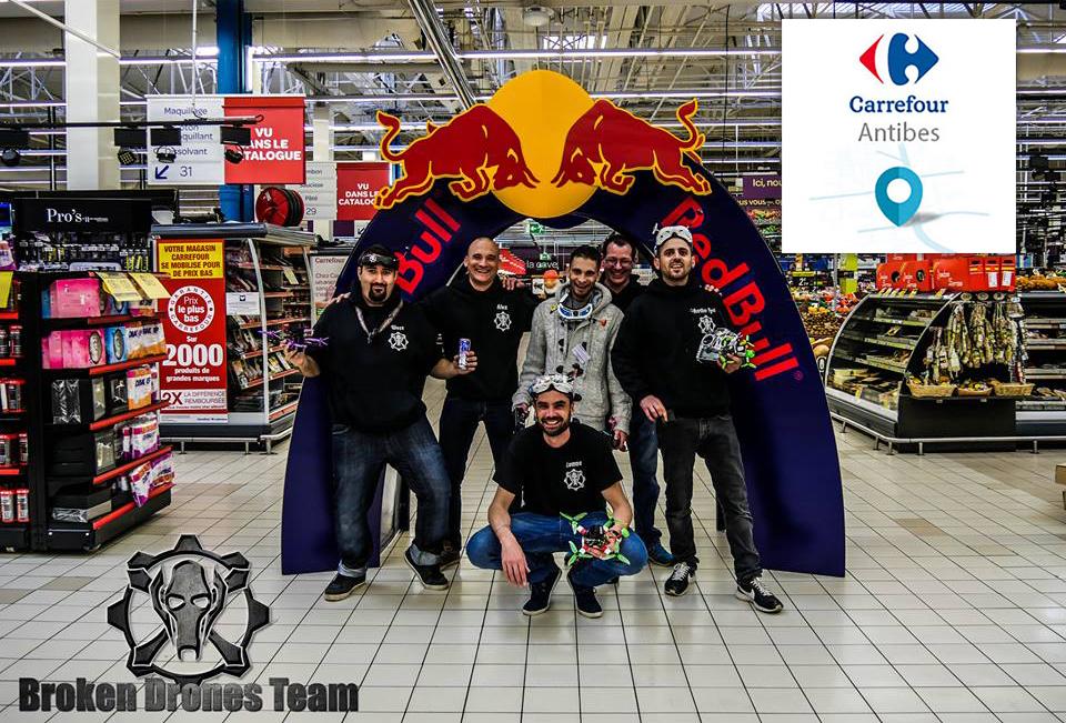 Course De Fpv Racing Dans Un Hypermarche Carrefour A Antibes Avec