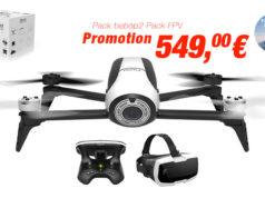 Promotion Parrot Drone de loisir HD Pack bebop 2 FPV