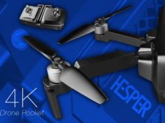 Pocket Drone : Zerotech Hesper 4K repliable.