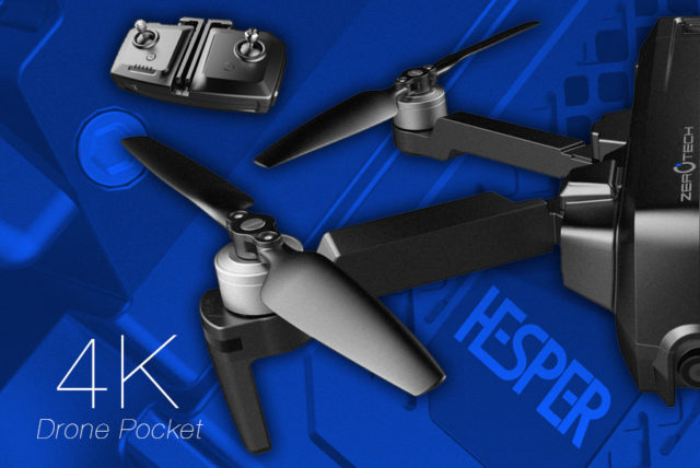 Pocket Drone : Zerotech Hesper 4K repliable.