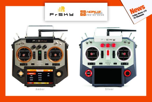 FrSky Horus X10 Transmitter sliver amber