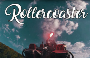 Drone Follows Rollercoaster Freestyle
