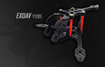 Frame drone tricopter Carbon EXUAV Y120S