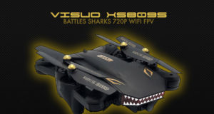 VISUO xs809s battles requins 720p wifi fpv