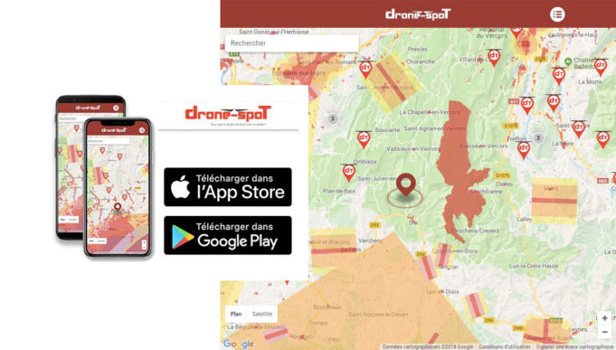 Application mobile DRONE-SPOT.tech Android iOs