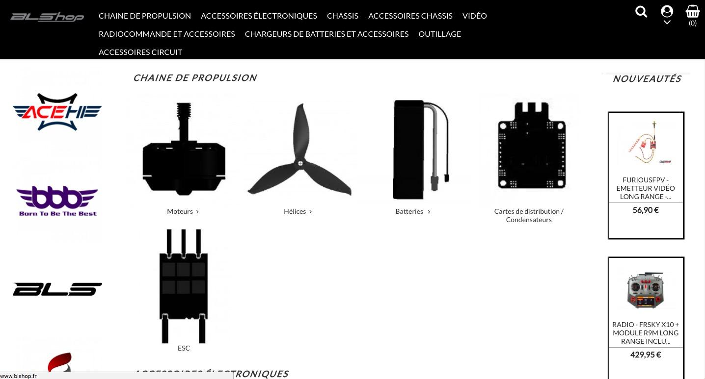nouvelle boutique blshop benjamin lavayssiere drone fpv news. Black Bedroom Furniture Sets. Home Design Ideas