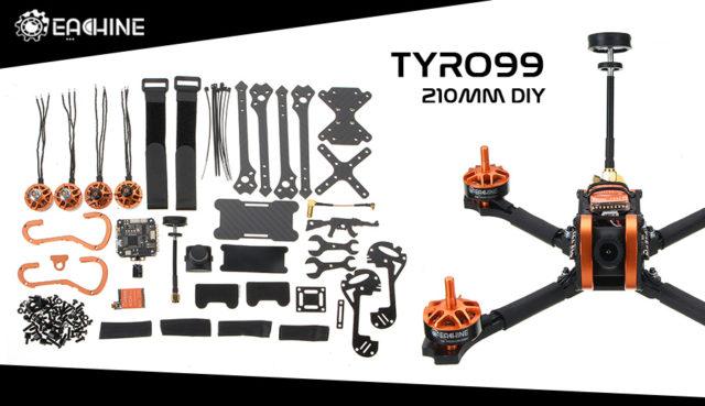 Eachine Tyro99 210mm DIY - drone fpv racing à fabriquer