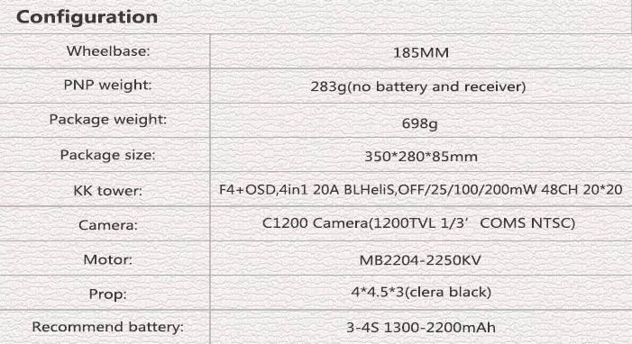 kingkong_ldarc ET max 185mm caractéristique