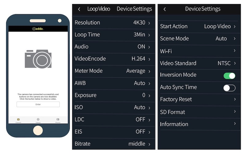 Caddx ORCA application wifi