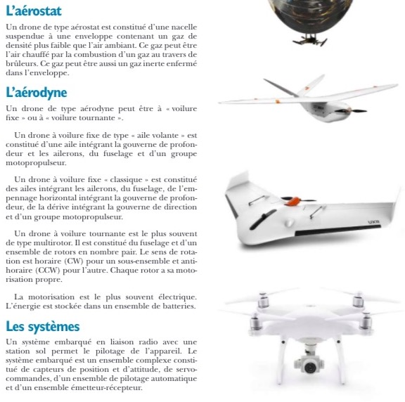 Manuel du télépilote de drone exemple page type de drone