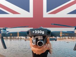 Réglementation au Royaume-Uni pour les drones de plus de 250g