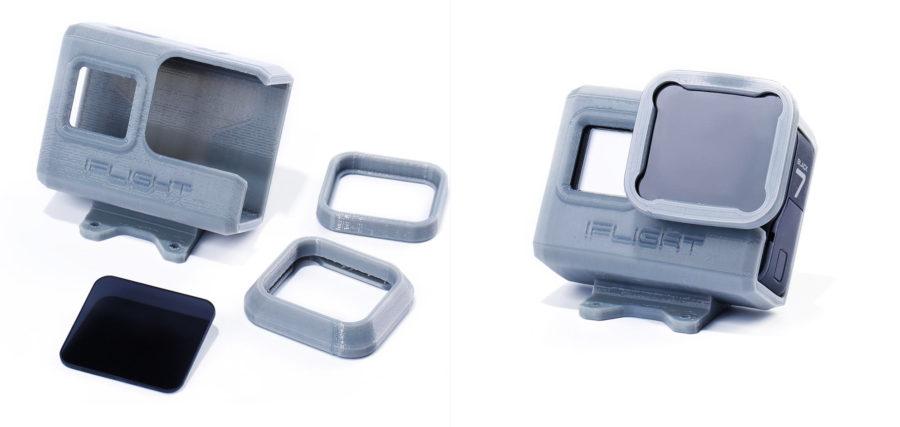 Support de caméra pour Gopro Hero 5:6:7 plus filtre ND8 et capuchon de protection pour nazgul - pack