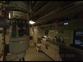 FPV Quad fly through an attack submarine