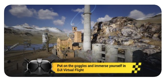 DJI Virtual Flight pour iOS _ screenshot