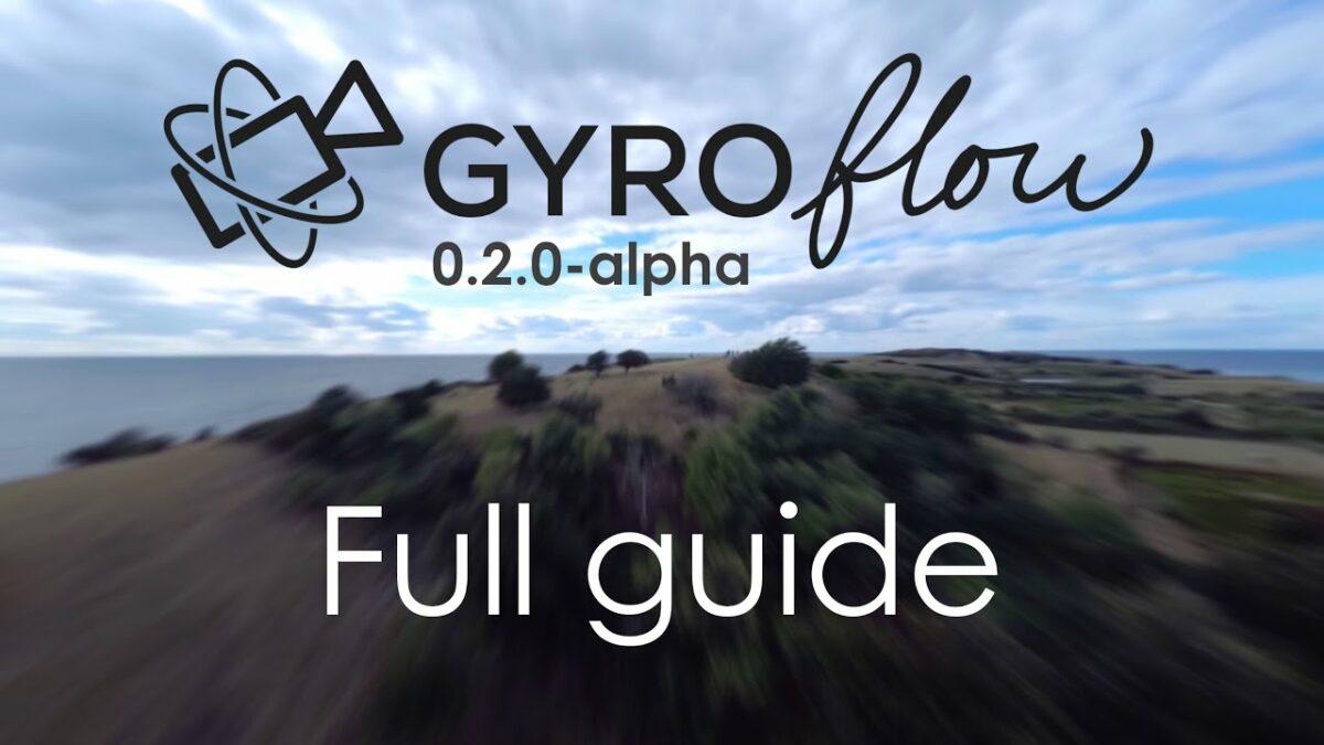 Gyroflow stabilization FPV drone