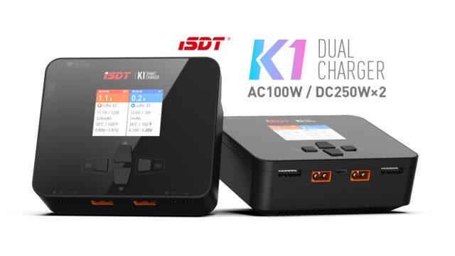 K1 Dual Charger 100w : DC 250w X2